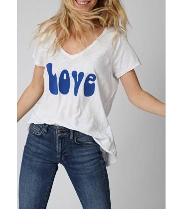 T-SHIRT BLANC LOVE BLUE FIVE JEANS