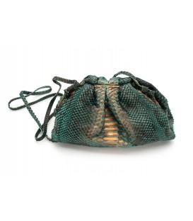 BABY UNIQ sac cuir python green & bronze SISTA PARIS