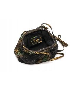 BABY UNIQ sac cuir python green & bronze SISTA