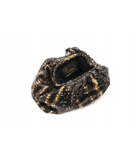 UNIQ sac cuir python stellar gold SISTA PARIS