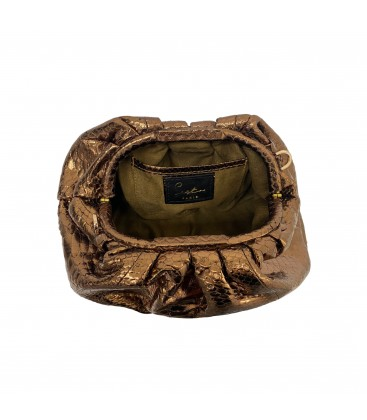 UNIQ sac cuir python bronze SISTA PARIS