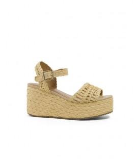 PROFITEROLE sandale plateforme raffia natural BIBI LOU