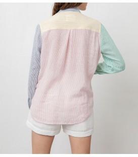 CHARLI chemise mix rainbow stripe RAILS CLOTHING