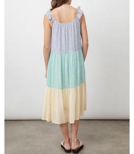 CAPRI robe mixed rainbow stripe RAILS CLOTHING