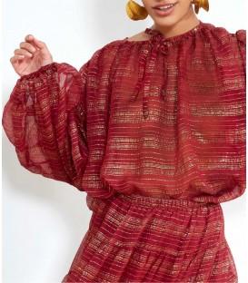 ESTEBAN blouse berry